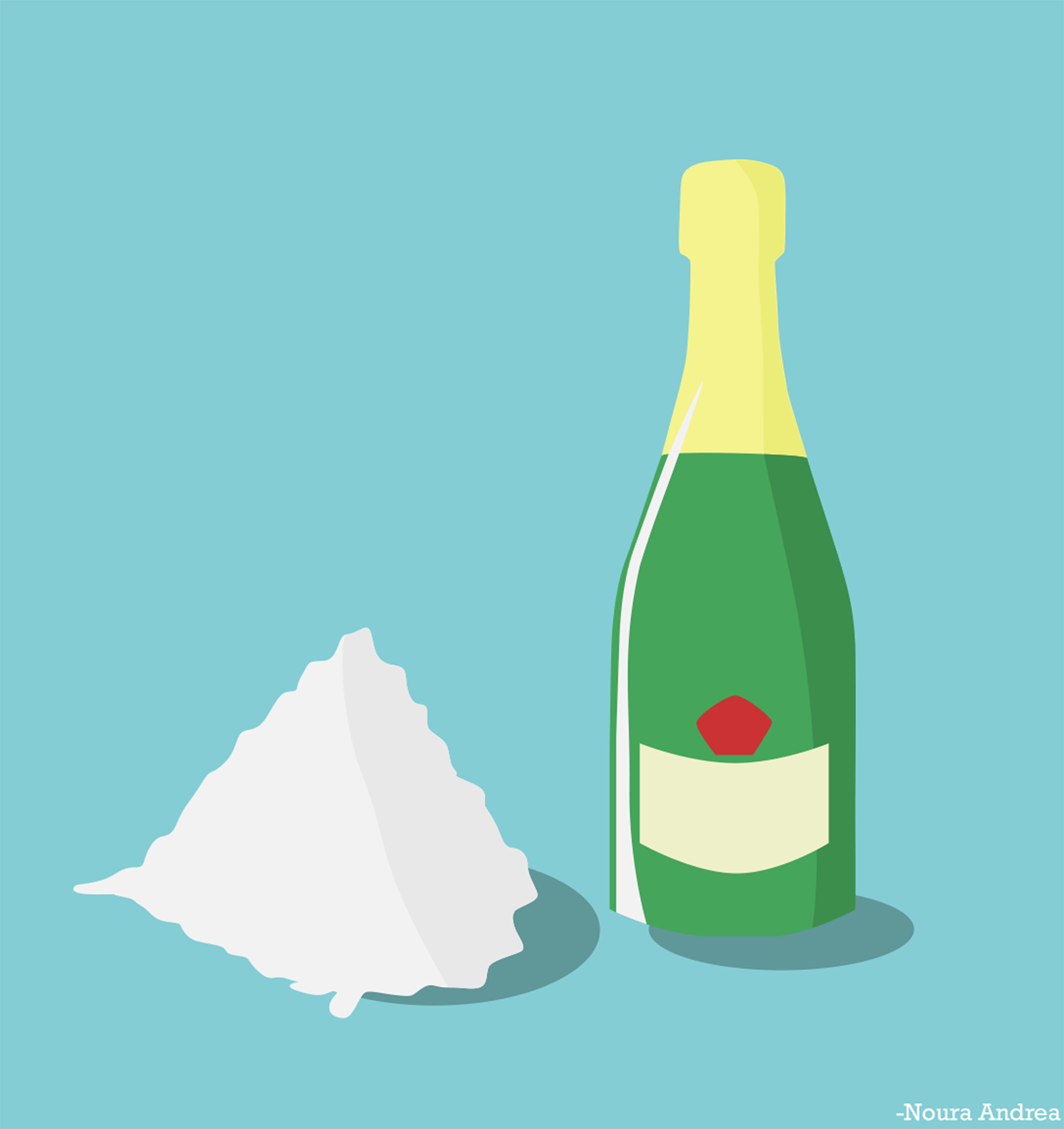 """Champagne and Cocaine, inspired by the song """"Doses and Mimosas"""" by ..."""